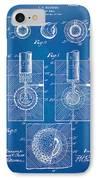 1902 Golf Ball Patent Artwork - Blueprint IPhone Case