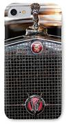 1930 Cadillac Roadster Hood Ornament 3 IPhone Case by Jill Reger