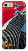 1935 Pontiac Sedan Hood Ornament IPhone Case by Jill Reger
