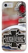 1936 American Lafrance Fire Truck Hood Ornament IPhone Case by Jill Reger