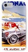 1936 F1 Monaco Grand Prix  IPhone Case by Georgia Fowler