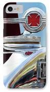 1938 American Lafrance Fire Truck Hood Ornament IPhone Case by Jill Reger