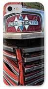 1946 International Harvester Truck Grill IPhone Case by Daniel Hagerman