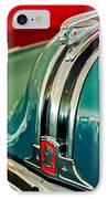 1948 Pontiac Streamliner Woody Wagon Hood Ornament IPhone Case by Jill Reger