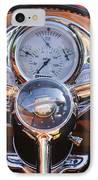1950 Oldsmobile Rocket 88 Steering Wheel 2 IPhone Case by Jill Reger