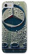 1957 Mercedes Benz 300sl Roadster Emblem IPhone Case by Jill Reger