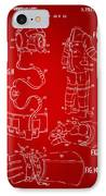 1973 Space Suit Elements Patent Artwork - Red IPhone Case by Nikki Marie Smith
