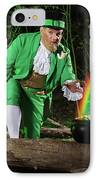 Leprechaun With Pot Of Gold IPhone Case
