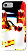 Pop Art Of .45 Cal Bullets Comming Out Of Pill Bottle IPhone Case
