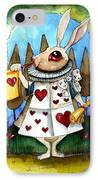 The White Rabbit IPhone Case