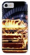 Sports Car In Flames IPhone Case