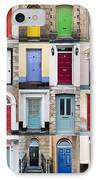 32 Front Doors Horizontal Collage  IPhone Case by Richard Thomas
