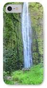 400 Foot Waimoku Falls Maui IPhone Case by Pierre Leclerc Photography