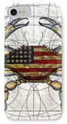 4th Of July Crab IPhone Case by Charles Harden