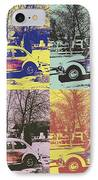 Old Beetle-pop Art IPhone Case by Pastime Ideas