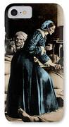 Florence Nightingale, English Nurse IPhone Case by Science Source