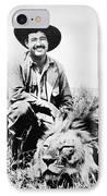 Ernest Hemingway IPhone Case by Granger