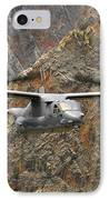 A Cv-22 Osprey Flies Over The Canyons IPhone Case by Stocktrek Images