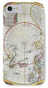 A Map Of The North Pole IPhone Case by John Seller
