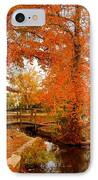 A Morning In Autumn - Lake Carasaljo IPhone Case by Angie Tirado
