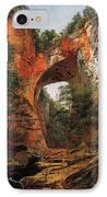 A Natural Bridge In Virginia IPhone Case by David Johnson