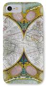 A New And Correct Map Of The World IPhone Case by Robert Wilkinson