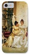 A Shared Confidence IPhone Case by Joseph Frederick Charles Soulacroix
