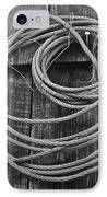 A Study Of Wire In Gray IPhone Case