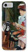 A Woman And Child In The Driving Seat IPhone Case by Mary Stevenson Cassatt