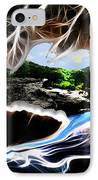 Abstract-cavern IPhone Case by Patricia Motley