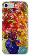 Abstract Floral 1 IPhone Case by Marion Rose