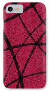 Abstract In Red And Black IPhone Case