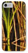Abstract Reeds Triptych Top IPhone Case