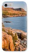 Acadian Cliffs In Autumn 1 IPhone Case by Susan Cole Kelly