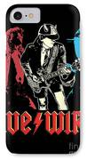 Acdc No.02 IPhone Case by Caio Caldas