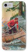 Adventures On The Nipigon IPhone Case by JQ Licensing
