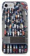 Aerial View Of Semi Trucks At Port IPhone Case