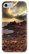 after the storm at La Corbiere IPhone Case by Meirion Matthias