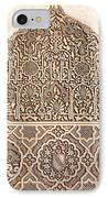 Alhambra Wall Panel Detail IPhone Case by Jane Rix
