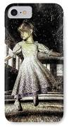 Alice And The Rabbit IPhone Case by Bob Orsillo
