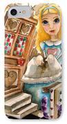 Alice In Wonderland 2 IPhone Case by Lucia Stewart