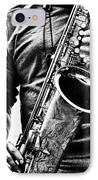 All Blues Man With Jazz On The Side IPhone Case by Bob Orsillo