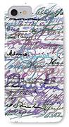All The Presidents Signatures Blue Rose IPhone Case