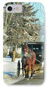 Amish Winter IPhone Case by David Arment