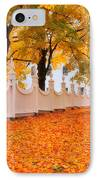 An Autumn Stroll - West Bennington Vermont IPhone Case by Thomas Schoeller