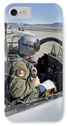 An F-15 Pilot Performs Preflight Checks IPhone Case by HIGH-G Productions