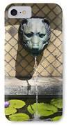 Animal Fountain Head IPhone Case by Teresa Mucha