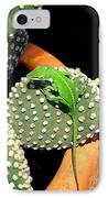 Anole Hanging Out With Cactus IPhone Case