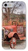Antique Car And Filling Station 1 IPhone Case
