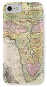 Antique Map Of Africa IPhone Case by Pieter Schenk